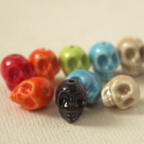 Porcelánové lebečky 6 barev