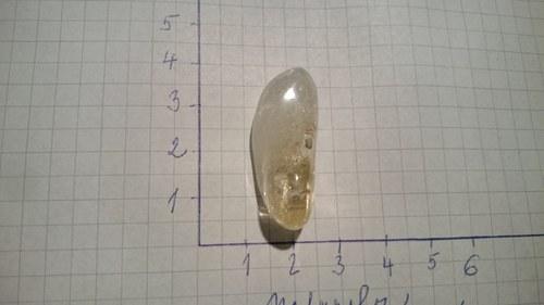 Citrín tromlovaný (3,2x1,2x1cm)