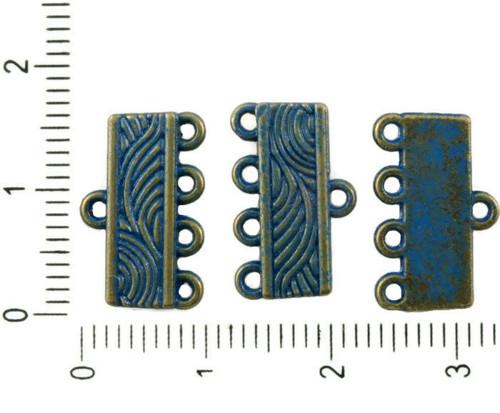 20ks Antique Bronze Tón Modrá Patina Mytí Multi Dí