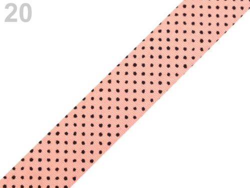 Samolep. textilní páska š.15 mm - starorůžová