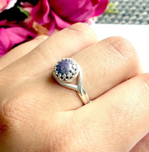 Strieborný elegantný prsteň s kunzitom ag925