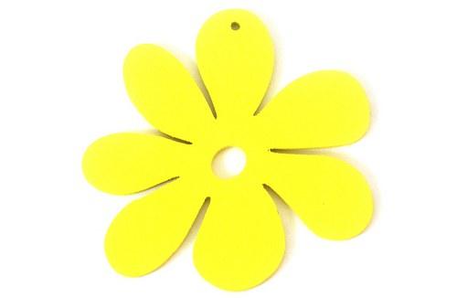 dřevěné kytičky- žluté