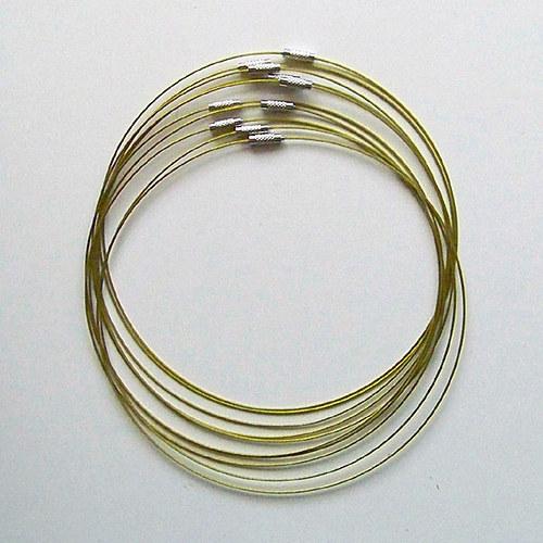 náhrdelníková obruč/ žlutozelená/ 45 cm/ 1ks