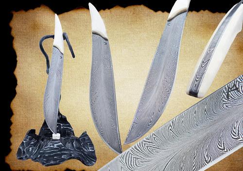 Damaškový nůž - Peříčko