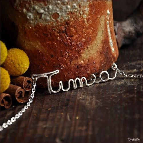 """Náhrdelník s menom / řetízek se jménem \""""Timea\"""""""