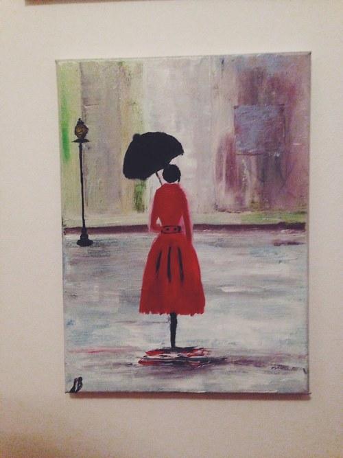 Slečna s deštníkem