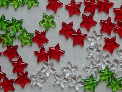 Plastová dekorace Hvězda - 5ks