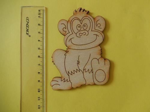 Opice - dřevěný výřez