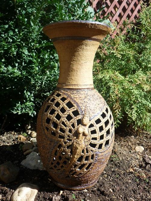 váza motýl-37cm