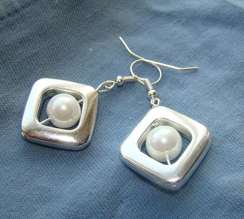 náušnice perlová elegance