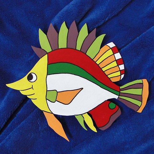 Dekorace barevná ryba