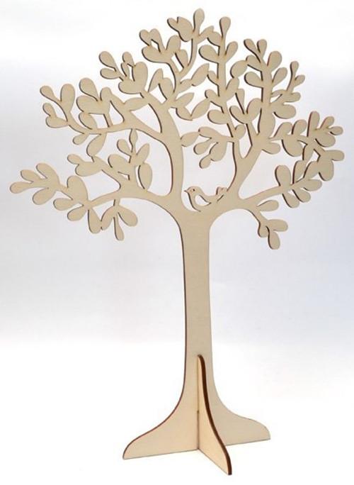 Dřevěný výřez, strom, stojánek, dekorace