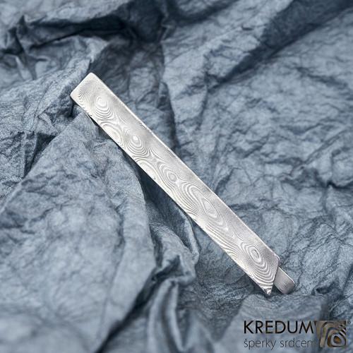 Kovana spona na kravatu damasteel - Loper