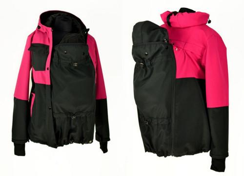 Soft.jaro/podzim bunda-přední/zadní noš-růžovo čer