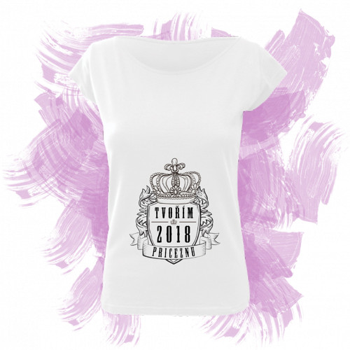Tričko elegance s motivem - tvořím princeznu 5