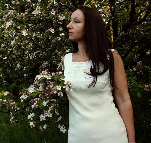 Bavlněné šaty s květy