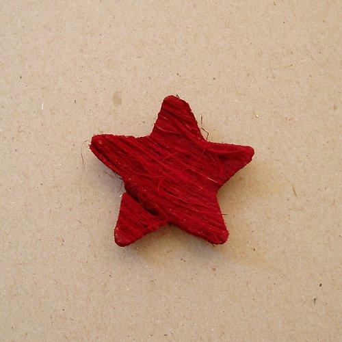 Hvězda kokos - červená 1 ks