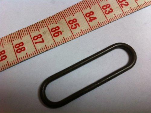 Vsuvka kovová oblá 3,5 cm černá 2 ks