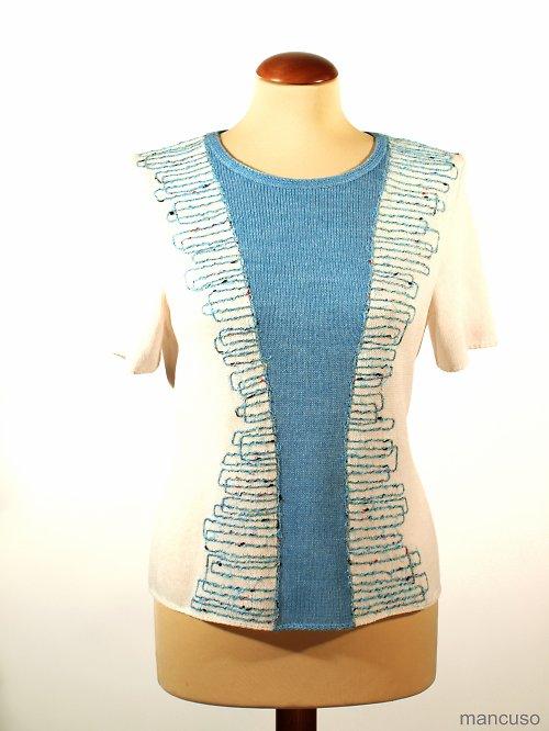 Tričko modré řádkování