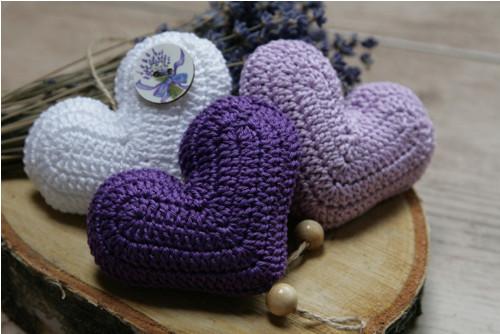 Srdíčkový závěs - levandulový