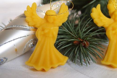 Ozdoby a svíčky ze včelího vosku - anděl bible