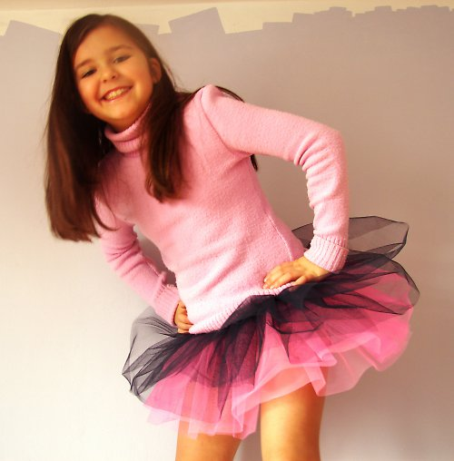Tylová sukně modro/růžová (6-10 let)
