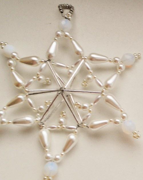 plastická stříbrná hvězda