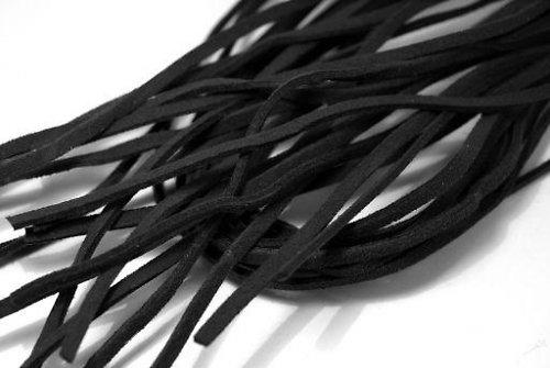 10 ks - Řemínek imitace semiše - Černá