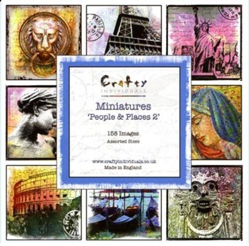 Crafty_Sada 10 mini obrázků - Lidé a místa II