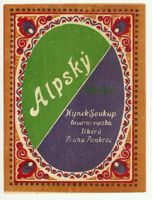 Etiketa Alpský likér