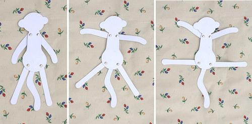 Opice na stěnu - Omalovánky
