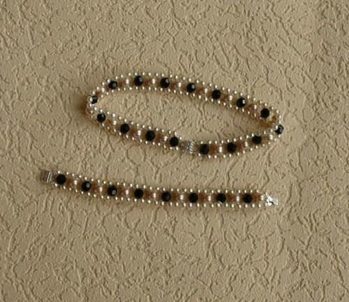 perlový  náhrdelník - obojek