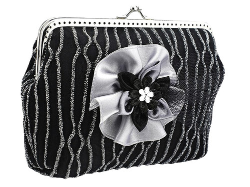 Černá společenská kabelka kabelka 0925A