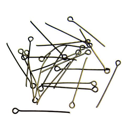Starobronzové ketlovací jehly 3,2 cm, 200 ks