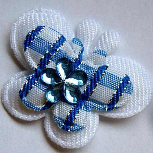 nášivka modrý motýl