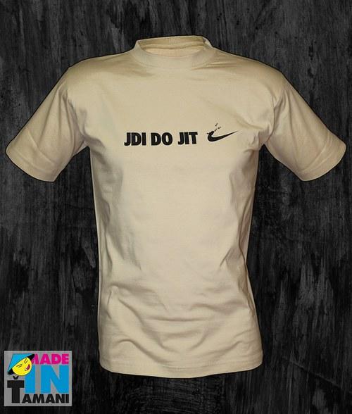 Pánské pískové tričko Jdi dojit 02