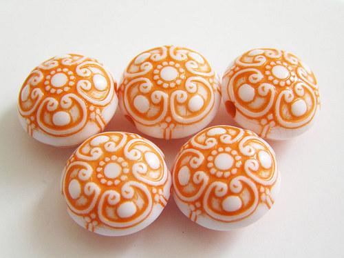 Kulaté čočky střední oranžová barva