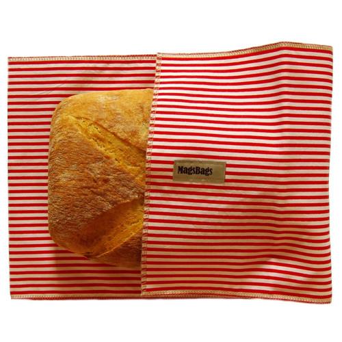 Chlebapsa-kapsa na chléb, červená s pruhy