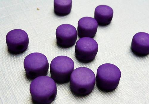 Plastové disky 6 mm - fialová / 15 ks