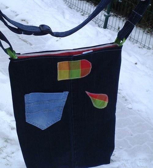 Riflová nákupní taška - RECY