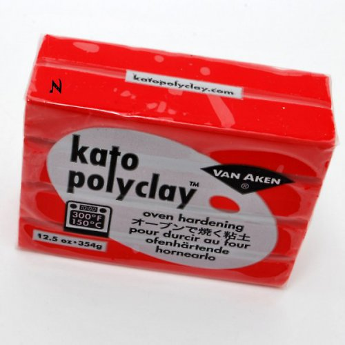 Kato Polyclay velké balení / Červená