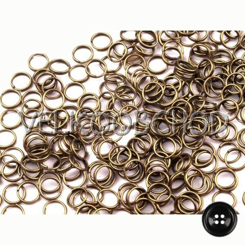 Dvojité kroužky pr.8 mm (50 ks) - staromosaz