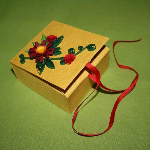 krabička s květinami