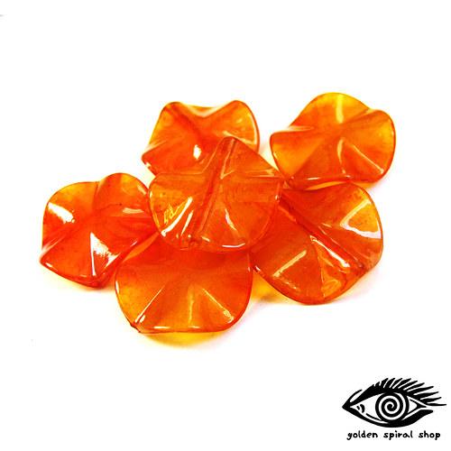 Oranžové kroucené - 10 kusů