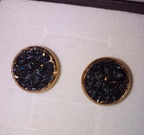 Náušnice s nebroušenými diamanty,zlaceno