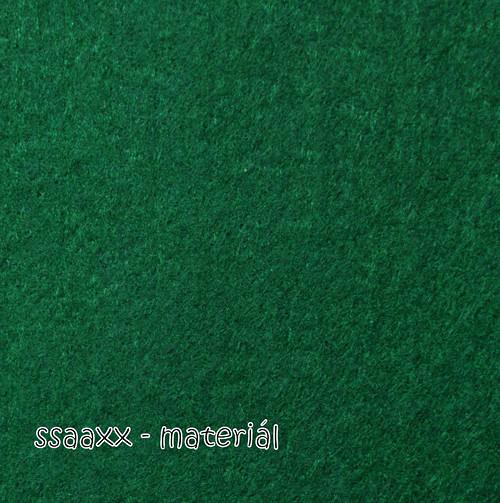 Dekorační filc 3 mm - zelená