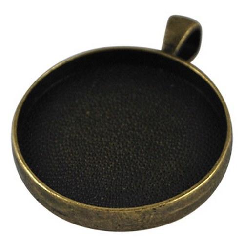 přívěsek kruh masiv/ ant.bronz/ 41x32mm/ 1ks