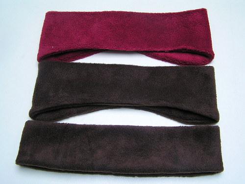Fleecová čelenka-rovná