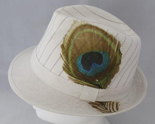 Letní  klobouk paví pero
