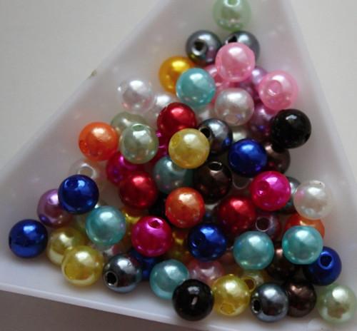 Akrylové korálky 6mm/50ks mix barev